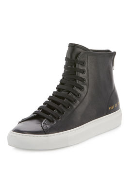 Tournament Leather High Top Sneakers by Common Projects