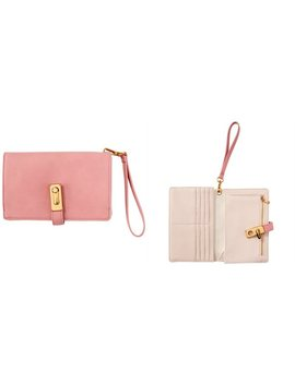 Love And Lore Oversized Wallet Wristlet Dusty Pink by Love & Lore