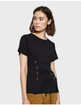 Langley Top In Black by Farrow