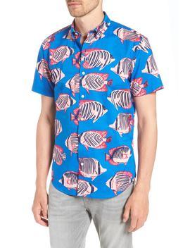 Riviera Slim Fit Fish Print Sport Shirt by Bonobos
