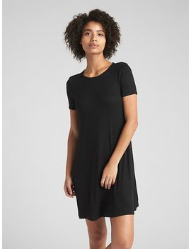 Short Sleeve Ribbed T Shirt Dress by Gap
