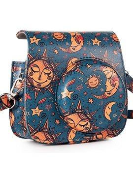 Caiul Compatible Mini 9 Groovy Camera Case Bag For Fujifilm Instax Mini 8 8+ 9 Camera   Sun Moon Stars by Caiul