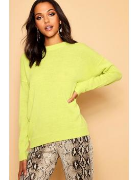 Boxy Crew Neck Jumper by Boohoo