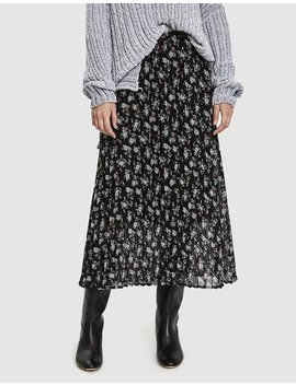 Moe Pleated Skirt In Vintage Mini Floral by Just Female