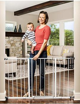 Regalo Easy Open 50 Inch Wide Baby Gate, Bonus Kit, Includes 6 Inch And 12 Inch Extension Kit, With Both Pressure And Wall Mount Kits by Regalo