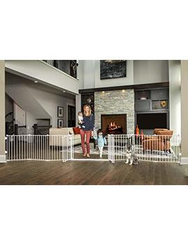 Regalo 192 Inch Double Door Super Wide Gate And Adjustable 8 Panel Play Yard, White by Regalo