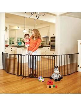 """""""3 In 1 Arched Décor Metal Superyard"""" By North States: Create An Extra Wide Gate Or A Play Yard. Hardware Mount Or Freestanding. 6 Panels, 10 Sq. Ft. Enclosure... by North States"""