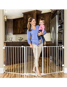 Regalo 76 Inch Super Wide Metal Configurable Baby Gate, Includes 4 Pack Of Wall Mounts by Regalo