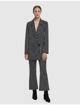 Laurent Striped Trouser by Just Female