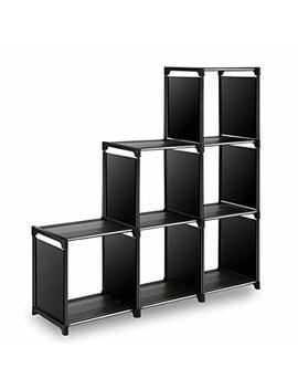 Tom Care Cube Storage 6 Cube Closet Organizer Shelves Storage Cubes Organizer Cubby Bins Cabinets Bookcase Organizing Storage Shelves For Bedroom Living Room Office, Black by Tom Care