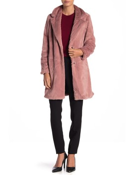 Faux Fur Notch Collar Jacket by Sebby