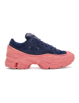 Blue & Pink Adidas Originals Edition Ozweego Sneakers by Raf Simons