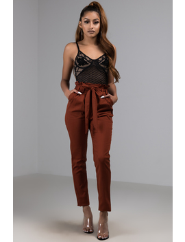 In The Bag Pleated Waist Cigarette Pant by Akira