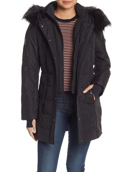 Faux Fur Hooded Puffer Jacket by Nautica