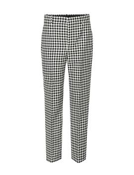 Checked Virgin Wool Pants by Balenciaga