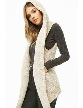 Faux Shearling Hooded Teddy Vest by Forever 21