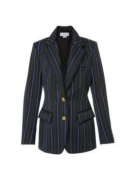 Striped Wool And Cotton Blend Blazer by Loewe