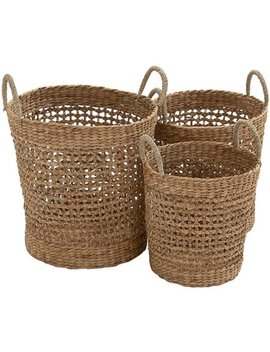Most Useful Seagrass Basket Set Of 3 by Benzara
