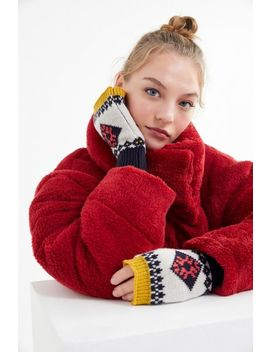 Fair Isle Fingerless Glove by Urban Outfitters