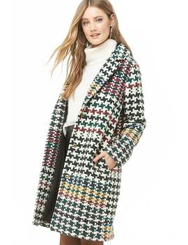 Basketweave Trench Coat by Forever 21