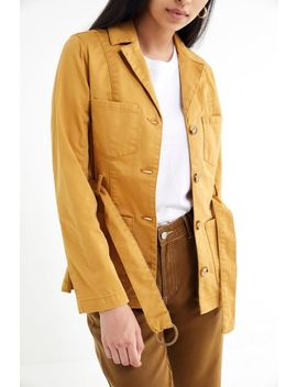 Uo Belted Button Front Safari Jacket by Urban Outfitters