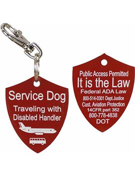 Activedogs Engraved Service Dog Travel Tag by Activedogs