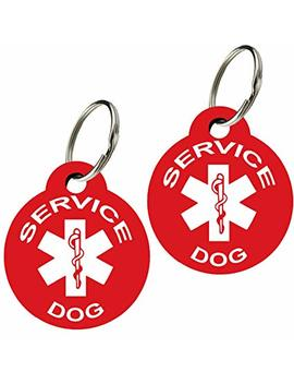 Cnattags Service Dog Id Tags   Personalized Front And Back Premium Aluminum (Set Of 2) by Cnattags