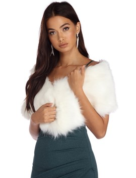 Glam Faux Fur Shawl by Windsor