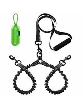 Peteast Double Dog Leash, Heavy Duty Dual Dog Leash, 360° Swivel No Tangle & Soft Handle, Walking & Training Leash For Medium/Large Two Dogs by Peteast