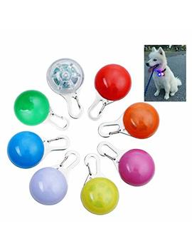 Owude Clip On Dog Cat Collar Light, Waterproof Safety Night Walking Led Lights For Pet, 8 Pack Collar Charms Lights, Battery Included(Blue + Orange + Pink + Yellow + Red + Green + White + Colorful) by Owude