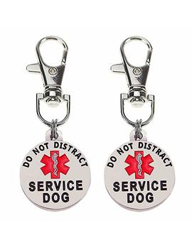 """Sticro Double Sided 2 Pack Small Breed Service Dog Tag 