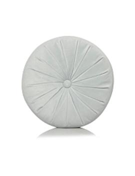 Classic Grey Mini Round Cushion by Asda