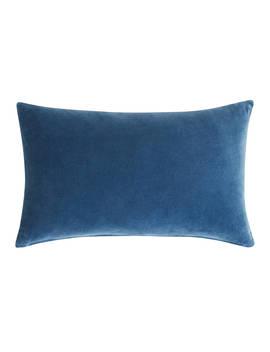 John Lewis & Partners Velvet Cushion, Navy by John Lewis & Partners