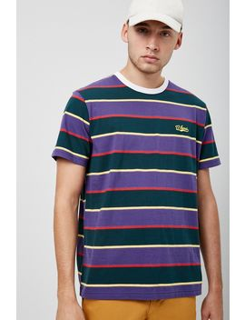 Winner Embroidered Striped Tee by Forever 21