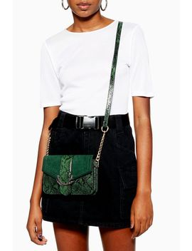 Sela Snake Print Cross Body Bag by Topshop