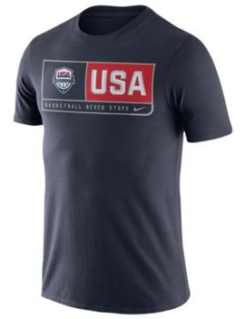 Nike Usa Basketball Team T Shirt   Men's by Nike