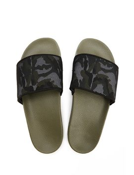 Men Slydes Camo Slide Sandals by Forever 21