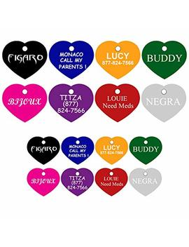 Dog Tags Pet Tags Personalized Premium Aluminum Heart by Cnattags