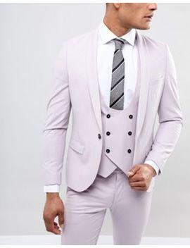 Moss London Silk Blend Tie In Grey Stripe by Moss London