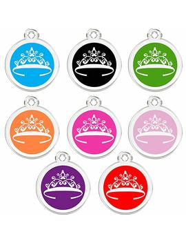 Cnattags Stainless Steel With Enamel Pet Id Tags Designers Round Tiara by Cnattags