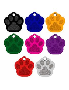 Cnattags Pet Id Tags Paw Shape, 8 Colors, Personalized Premium Aluminum by Cnattags