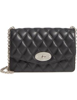 Small Darley Lock Quilted Calfskin Leather Clutch by Mulberry