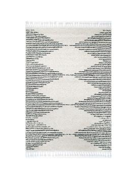 Bria Moroccan Diamond Tassel Off White 5 Ft. 3 In. X 7 Ft. 7 In. Area Rug by Nu Loom