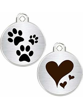 Cnattags Stainless Steel Pet Id Tags Personalized Designers Round Various Designs by Cnattags