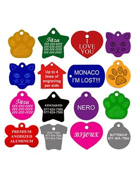 Cnattags Dog Id Tags Personalized | Many Shapes To Choose From| 8 Colors by Cnattags