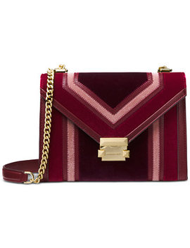 Whitney Tricolor Velvet Shoulder Bag by Michael Michael Kors