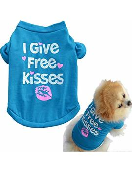 Howstar Pet Shirts Super Cute Puppy T Shirt Kisses Printed Dogs Summer Vest Costumes Cat Tank Top by Howstar