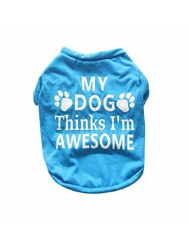 Sumen New Cute Small Pet Stripe T Shirt Cotton Puppy Dog Clothes by Sumen