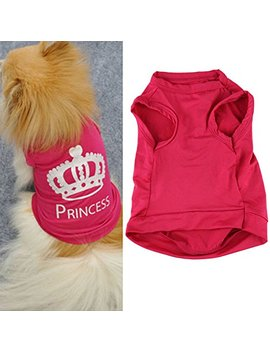 Letdown Pet Vest, Spring And Summer Cute Crown Printed T Shirt Costumes Dog Clothes by Letdown