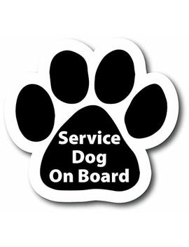 "Magnet Me Up Service Dog Pawprint Car Magnet   5"" Heavy Duty Auto Truck Fridge Magnetic Decal by Magnet Me Up"